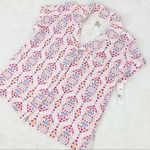 Pajama Flora Pink Top by Gillian O'Malley